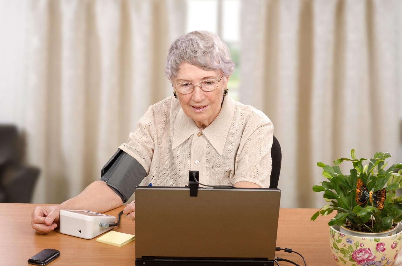 senior woman using telemedicine
